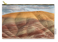 Carry-all Pouch featuring the photograph Painted Hill At Last Light by Greg Nyquist