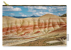 Carry-all Pouch featuring the photograph Painted Hills And Afternoon Sky by Greg Nyquist