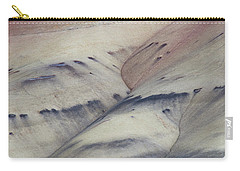 Carry-all Pouch featuring the photograph Painted Hills Textures 2 by Leland D Howard