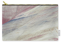 Carry-all Pouch featuring the photograph Painted Hills Textures 3 by Leland D Howard