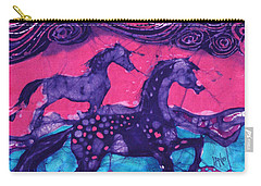 Painted Horses Below The Wind Carry-all Pouch