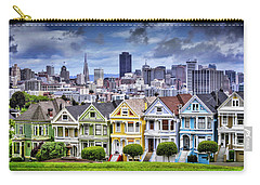 Painted Ladies Of San Francisco  Carry-all Pouch by Carol Japp