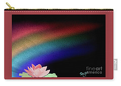 Painted Lotus Under Rainbow Carry-all Pouch