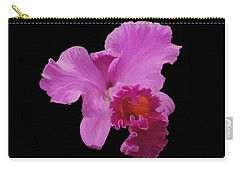 Carry-all Pouch featuring the photograph Painted Orchid by Phyllis Denton