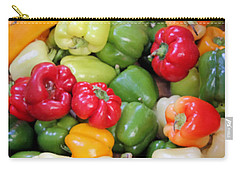 Painted Peppers Carry-all Pouch by Kristin Elmquist