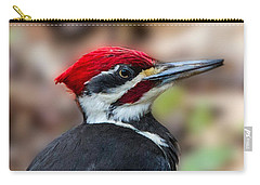 Carry-all Pouch featuring the painting Painted Pileated Woodpecker by John Haldane