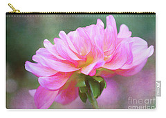 Painted Pink Dahlia Carry-all Pouch