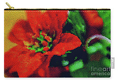 Painted Poinsettia Carry-all Pouch by Sandy Moulder