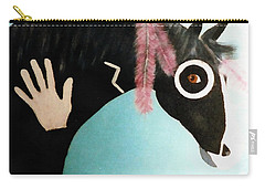 Painted Pony With Feather Carry-all Pouch