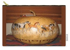 Painted Ponys Gn10 Carry-all Pouch by Barbara Prestridge