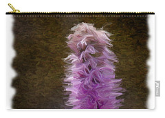 Painted Purple Flower Carry-all Pouch