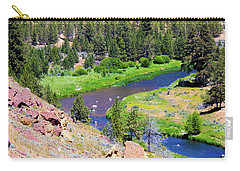 Carry-all Pouch featuring the photograph Painted River by Jonny D