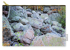 Carry-all Pouch featuring the photograph Painted Rocks by David Chandler