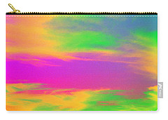 Carry-all Pouch featuring the photograph Painted Sky by Linda Hollis