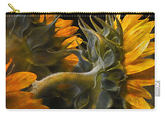 Painted Sun Flowers Carry-all Pouch by John Rivera