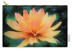 Painted Tangerine Dahlia Carry-all Pouch