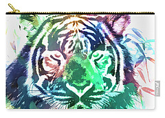 Painted Tiger Carry-all Pouch by Steve McKinzie