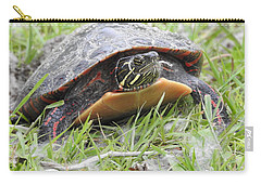 Carry-all Pouch featuring the photograph Painted Turtle by Betty-Anne McDonald