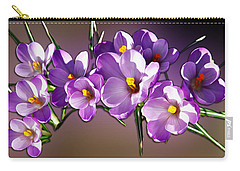 Carry-all Pouch featuring the photograph Painted Violets by John Haldane