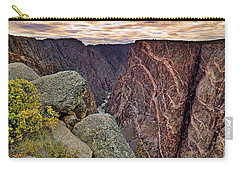 Painted Wall At Black Canyon Of The Gunnison - Colorado - Landscape Carry-all Pouch by Jason Politte