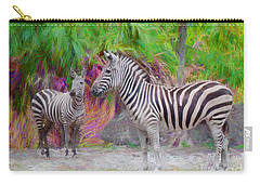 Carry-all Pouch featuring the painting Painted Zebra by Judy Kay