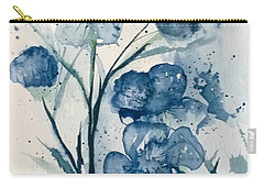 Painterly  Blues Carry-all Pouch