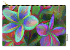 Painterly Frangipanis Carry-all Pouch