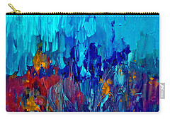 Painterly Garden Flowers Carry-all Pouch