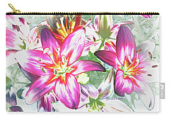 Painterly Pink Tiger Lilies Carry-all Pouch