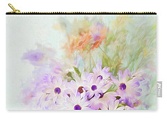 Painterly Spring Daisy Bouquet Carry-all Pouch