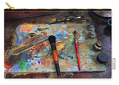 Carry-all Pouch featuring the photograph Painter's Palette by Jessica Jenney