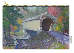 Painting Covered Bridge  Carry-all Pouch