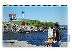 Painting Nubble Lighthouse Carry-all Pouch