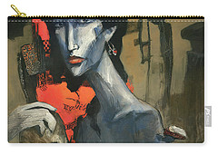 Painting Of The Lady _ 1 Carry-all Pouch by Behzad Sohrabi