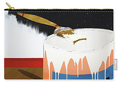 Carry-all Pouch featuring the painting Painting Out The Sky by Thomas Blood