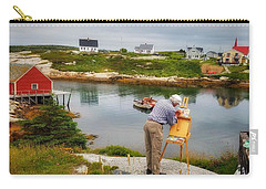 Painting Peggys Cove Carry-all Pouch