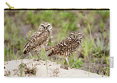 Pair Of Burrowing Owls Carry-all Pouch