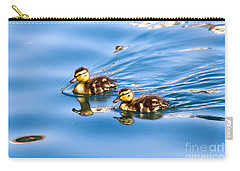 Carry-all Pouch featuring the photograph Duckling Duo by Kate Brown