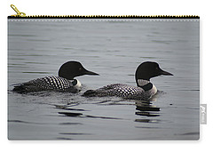 Pair Of Loons Carry-all Pouch by Steven Clipperton