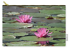 Pair Of Pink Pond Lilies Carry-all Pouch