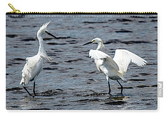 Pair Of Snowy Egrets Carry-all Pouch