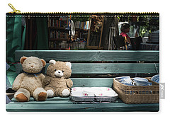 Teddy Bear Lovers On The Banch Carry-all Pouch