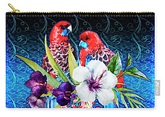 Paired Parrots Carry-all Pouch