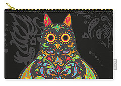 Paisley Owl Carry-all Pouch