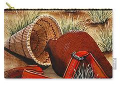 Paiute Baskets Carry-all Pouch by Jennifer Lake