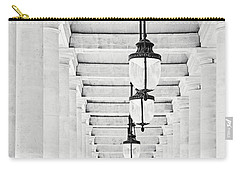 Palais-royal Arcade Black And White - Paris, France Carry-all Pouch by Melanie Alexandra Price