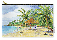 Palappa N Adirondack Chairs On A Caribbean Beach Carry-all Pouch