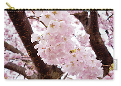 Pale Pink Cherry Blossoms Carry-all Pouch
