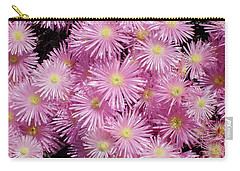 Pale Pink Flowers Carry-all Pouch by Mark Barclay