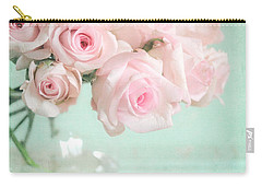 Pale Pink Roses Carry-all Pouch by Lyn Randle